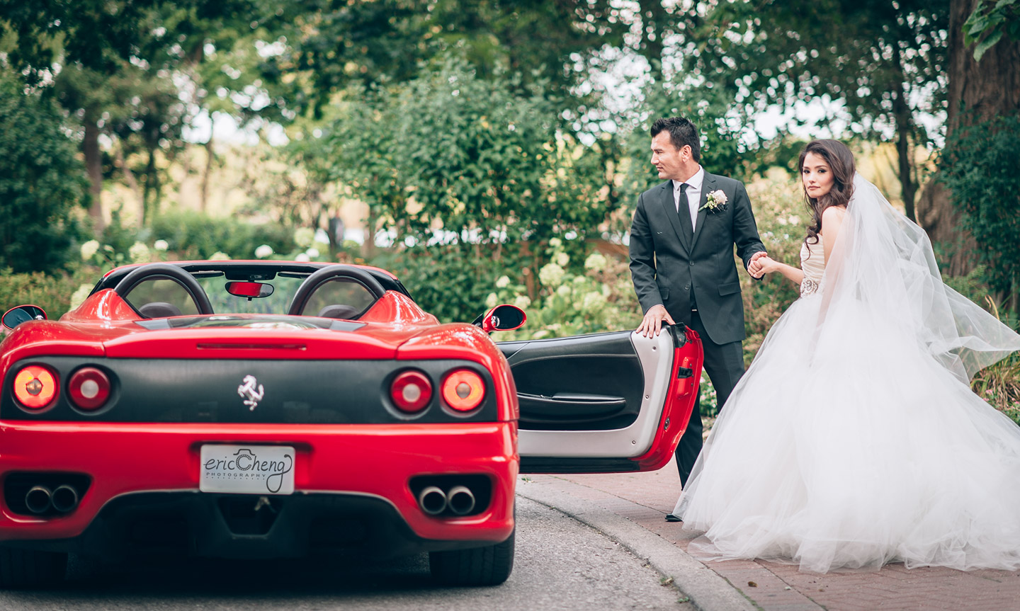 Adamson Estate Wedding Portrait Ferrari