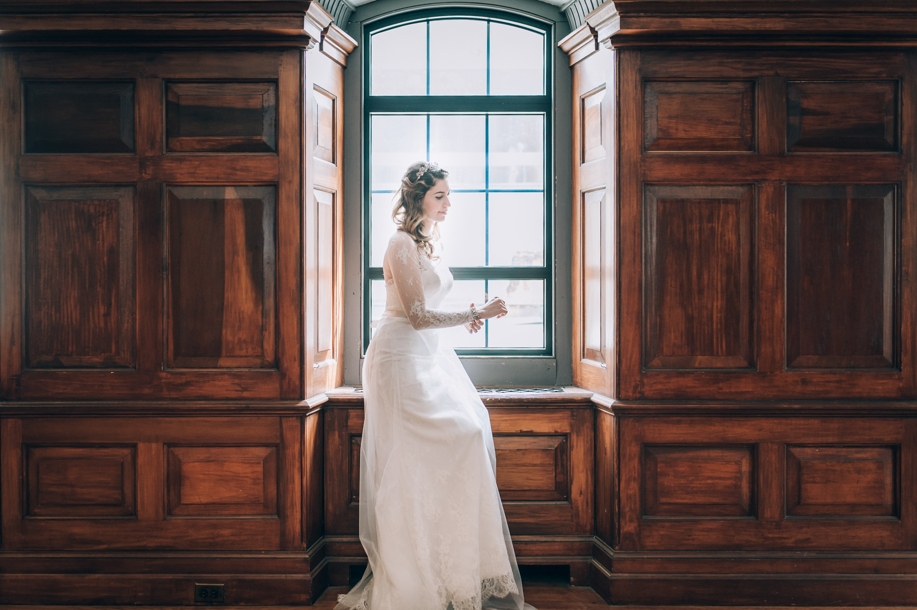 Hart House Wedding Bride Alone