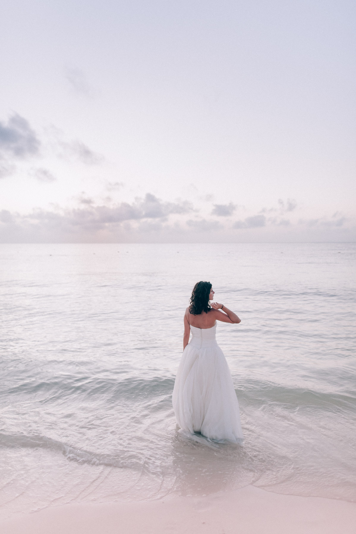 Mexico Elopement Trash the dress