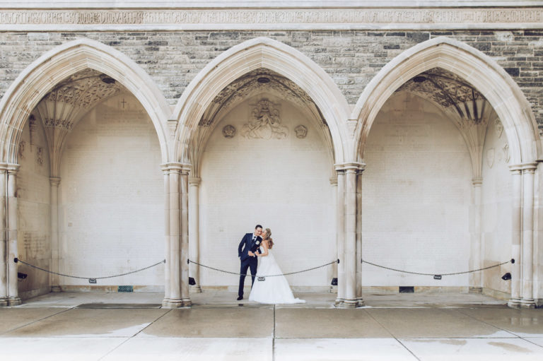 University of Toronto Hart House Wedding Photo Couple Portrait
