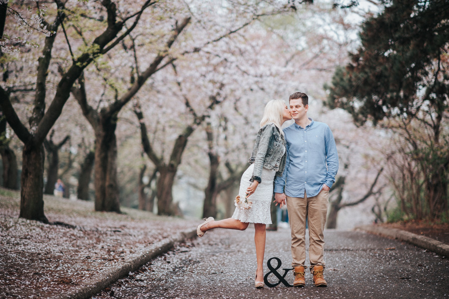Cherry Blossom Engagement photo 900