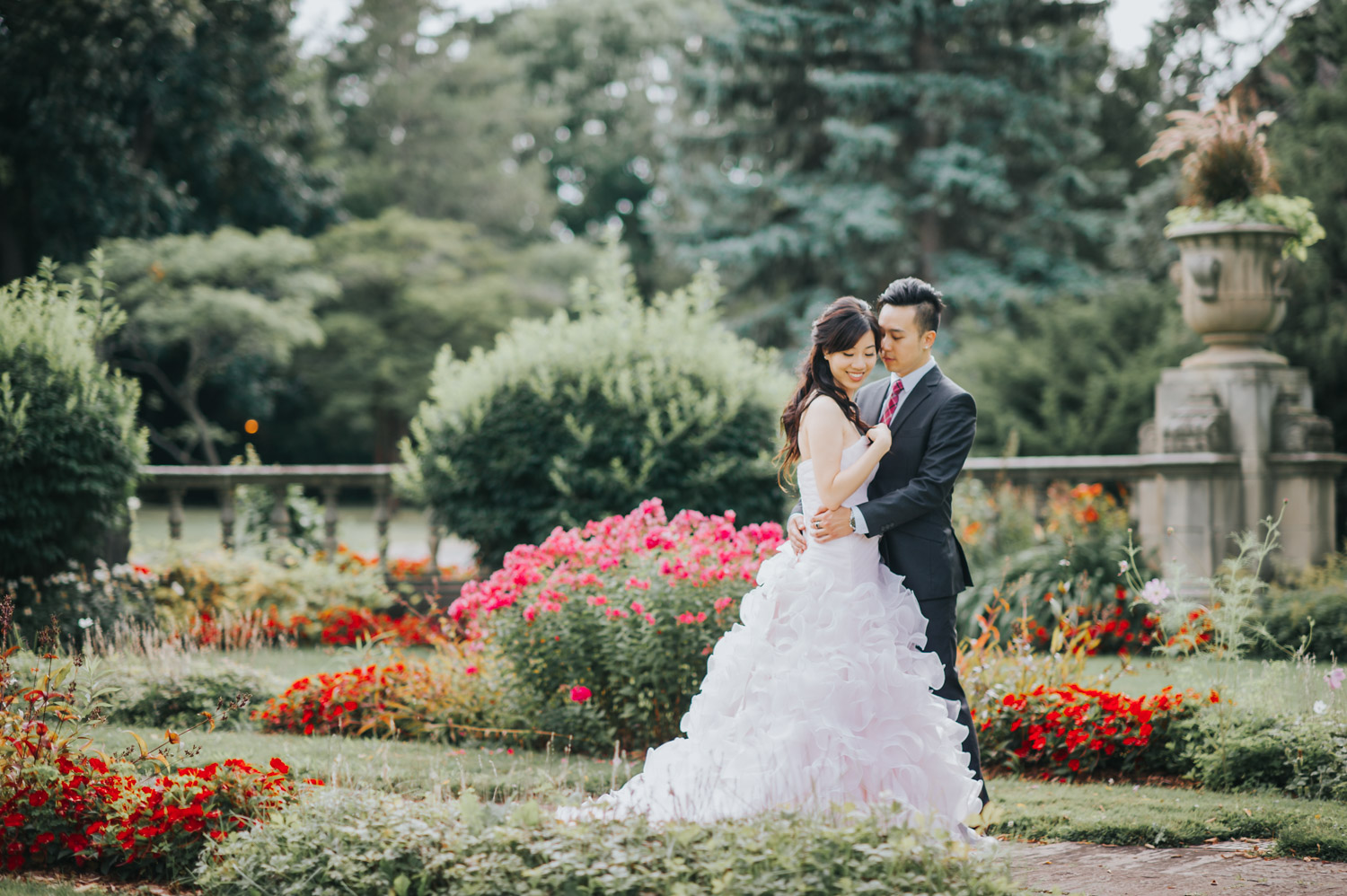 Glendon Campus Prewedding Session pink dress