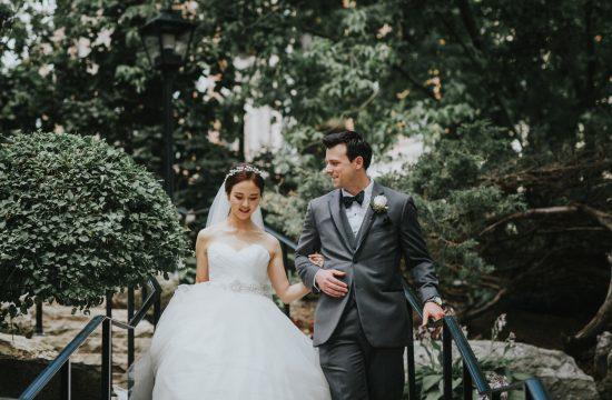 Old Mill Toronto Wedding Stairway to wedding garden