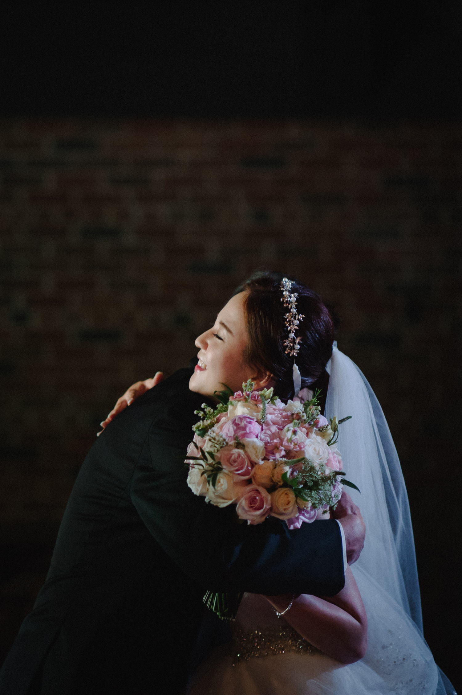 Emotional wedding in Old Mill chapel