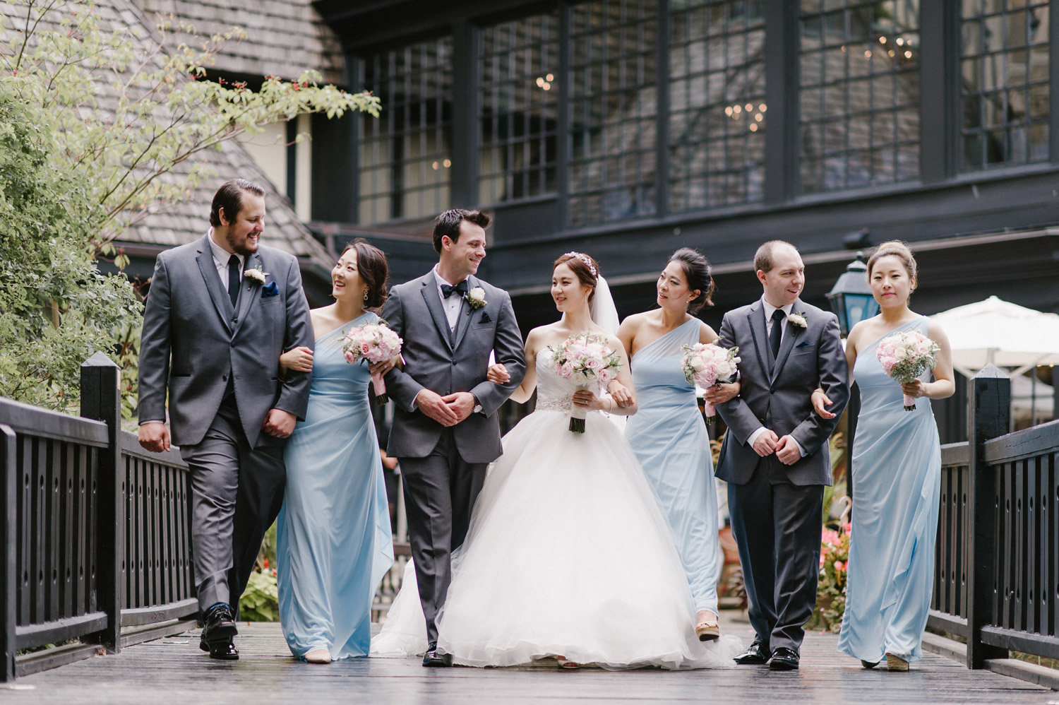 Old Mill Wedding bridal party photo