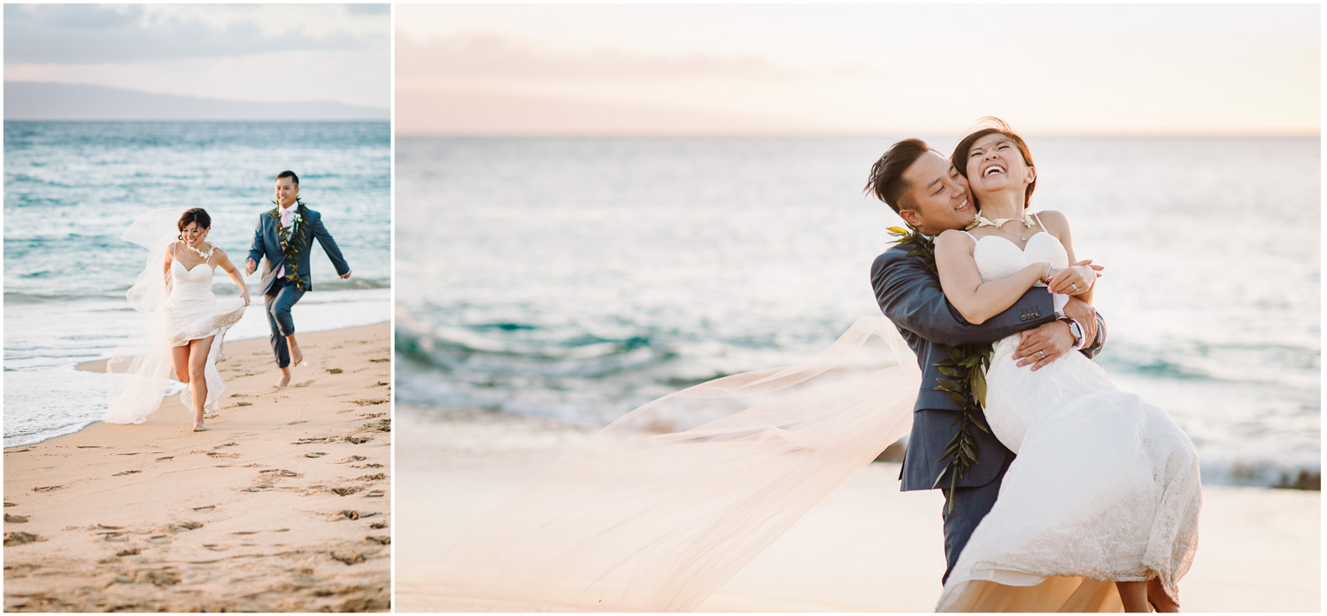Romantic Beach Wedding In Maui Hawaii Elopement From Toronto