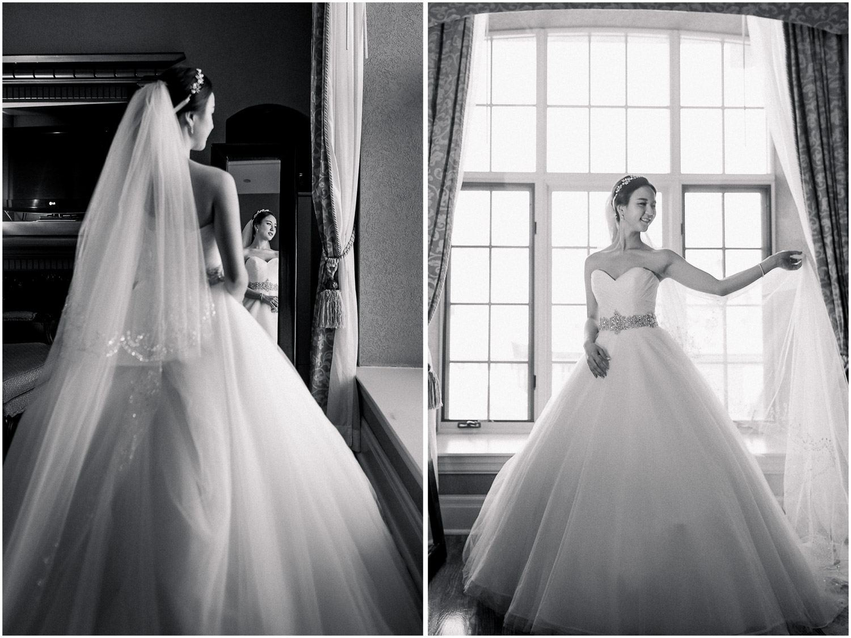 Toronto Old Mill Wedding Bridal Suite Bride portrait