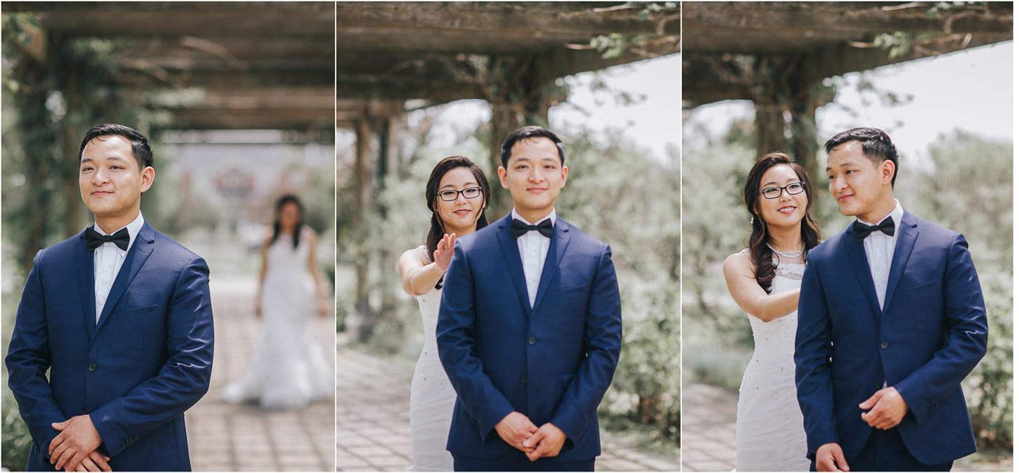 First look at richmond green wedding