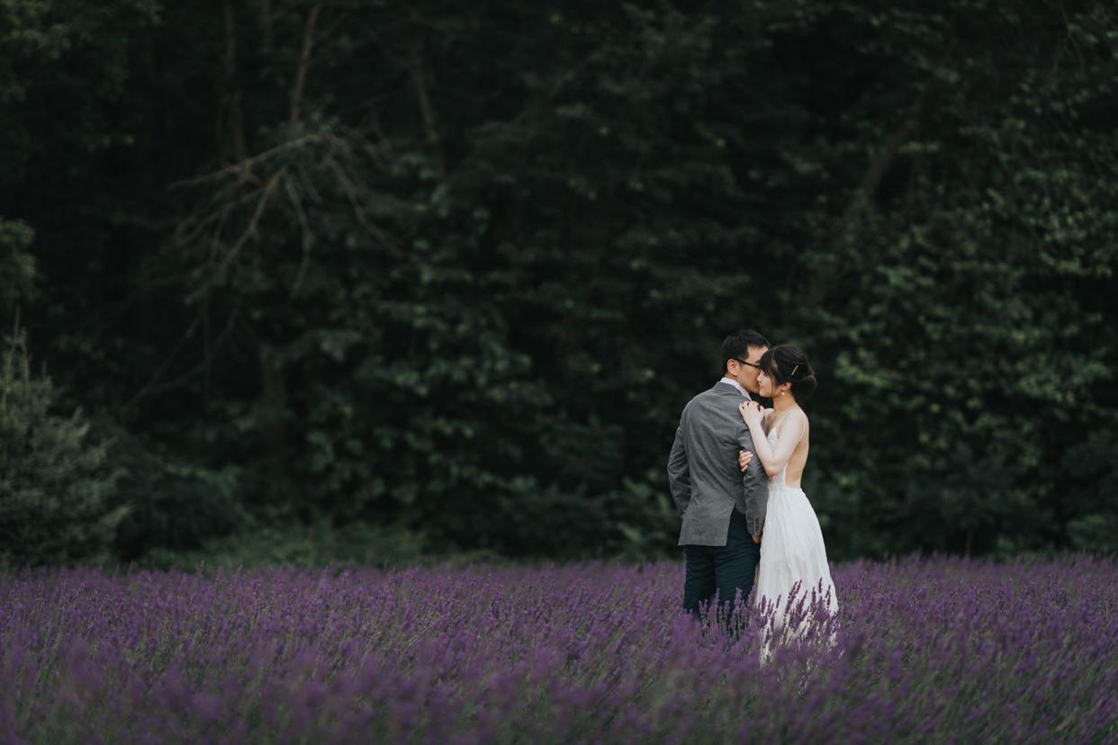Bonnieheath Lavender Farm Engagement Photo