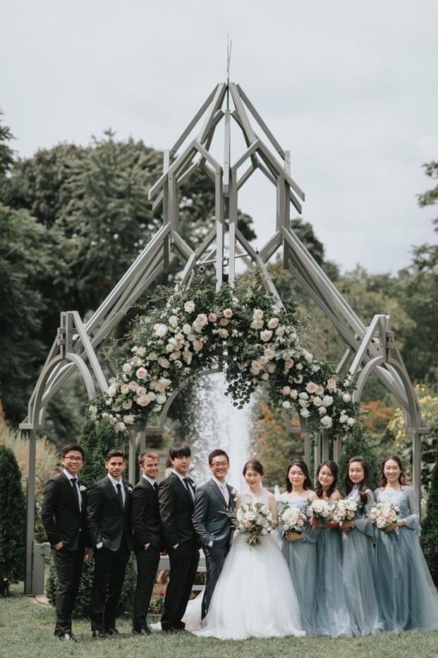 Casa Loma Toronto Outdoor Wedding garden