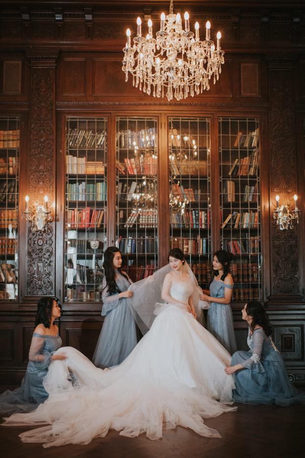 Casa Loma Wedding library indoor