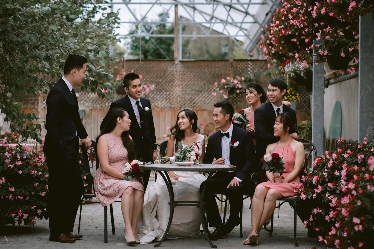 Madsen's Greenhouse Wedding Photo wedding party portrait
