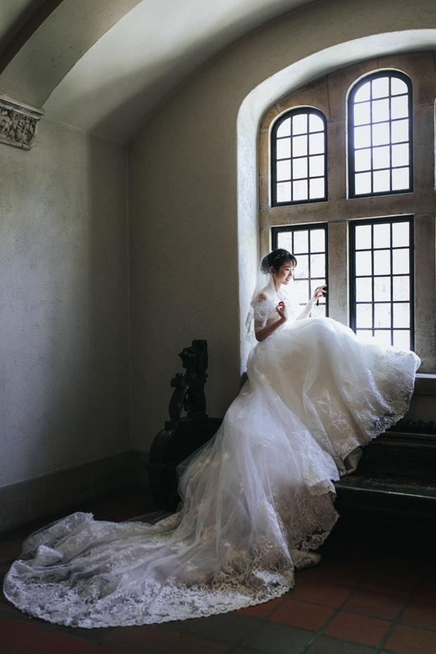 Trinity College Wedding indoor portrait