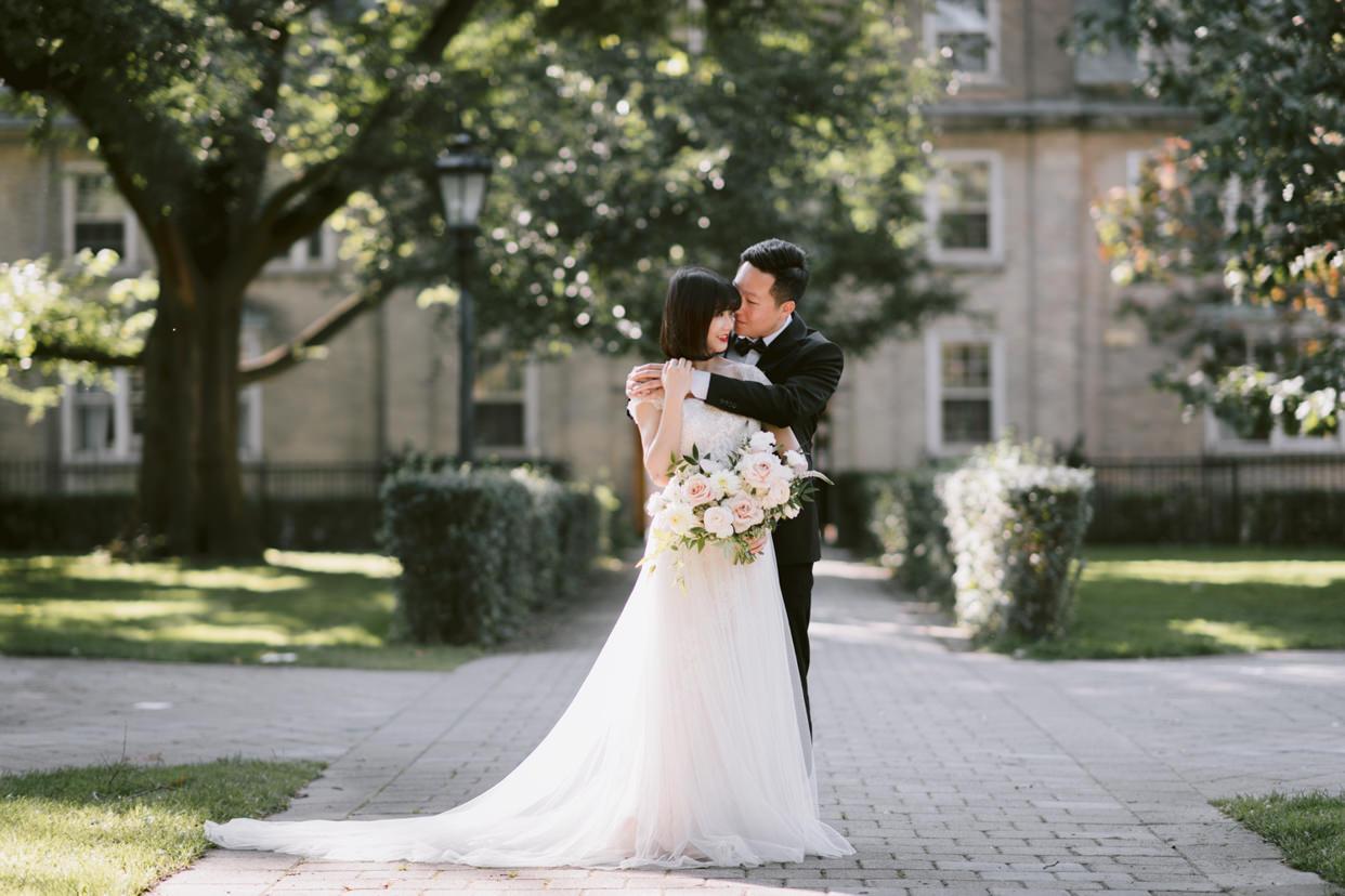 University of Toronto Wedding Photo taken at the UC College