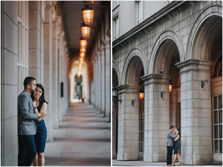Toronto engagement photos near Esplanade street and Novotel