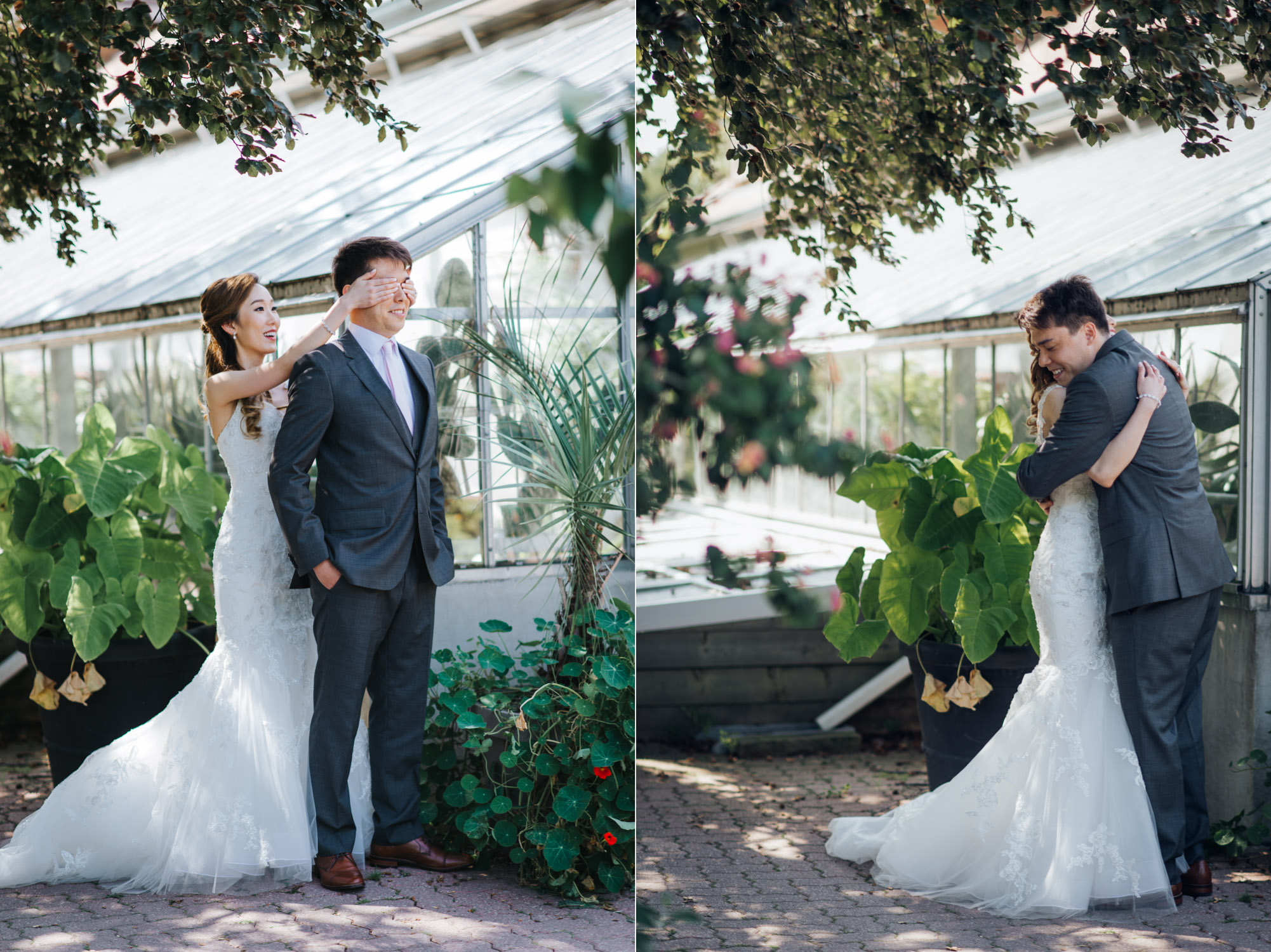 First look photo at Edwards Garden Wedding Photography