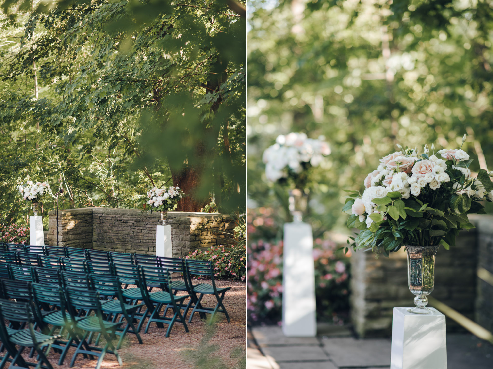Estates of Sunnybrook Wedding Outdoor Ceremony Detail