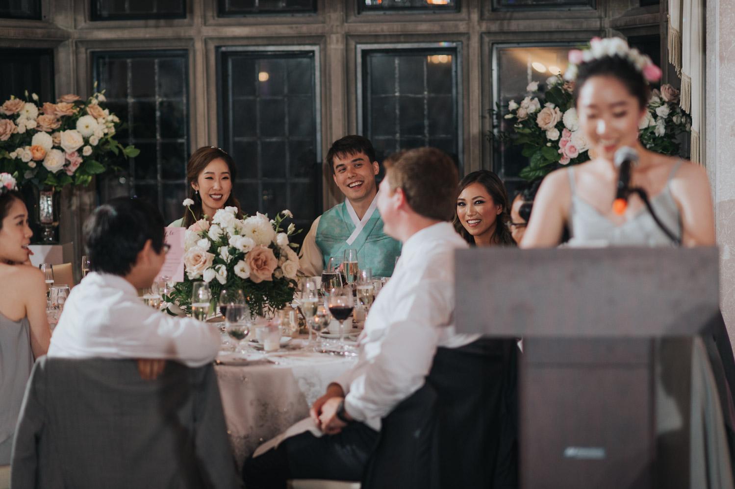 Speech at Estates of Sunnybrook Wedding Reception