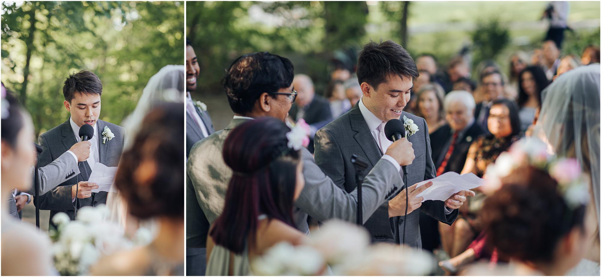 Estates of Sunnybrook Wedding Vaughan Estate Ceremony Vow Exchange