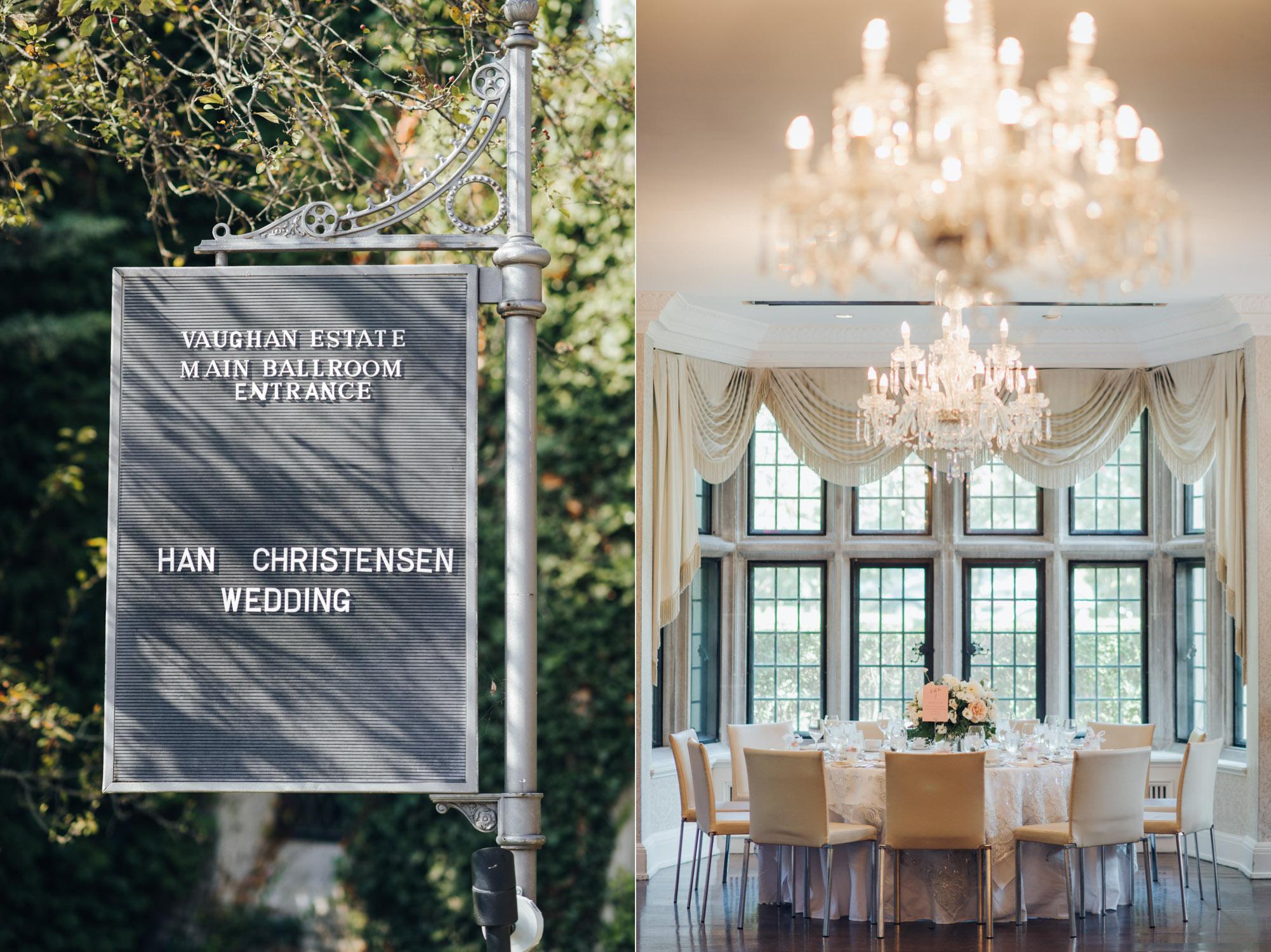 Estates of Sunnybrook Wedding Vaughan Estate Ceremony and Reception Decor ideas
