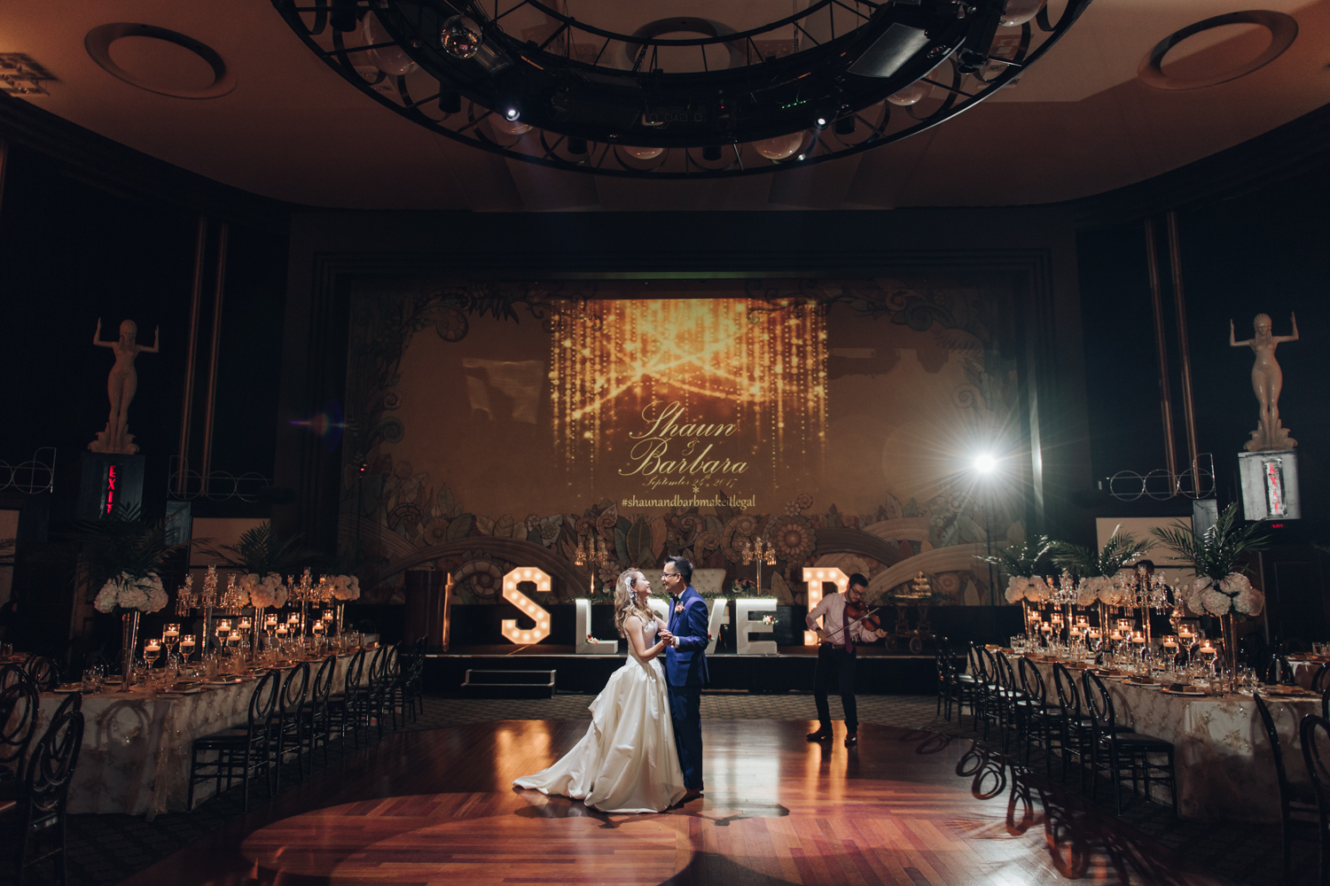First dance of bride and groom at the Eglinton Grand Toronto