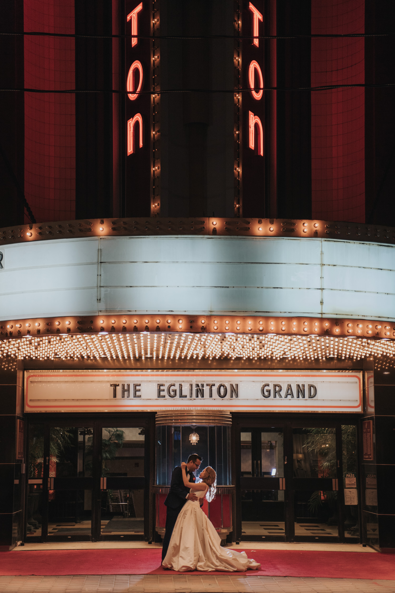 The Eglinton Grand Front Marquee Night Photo