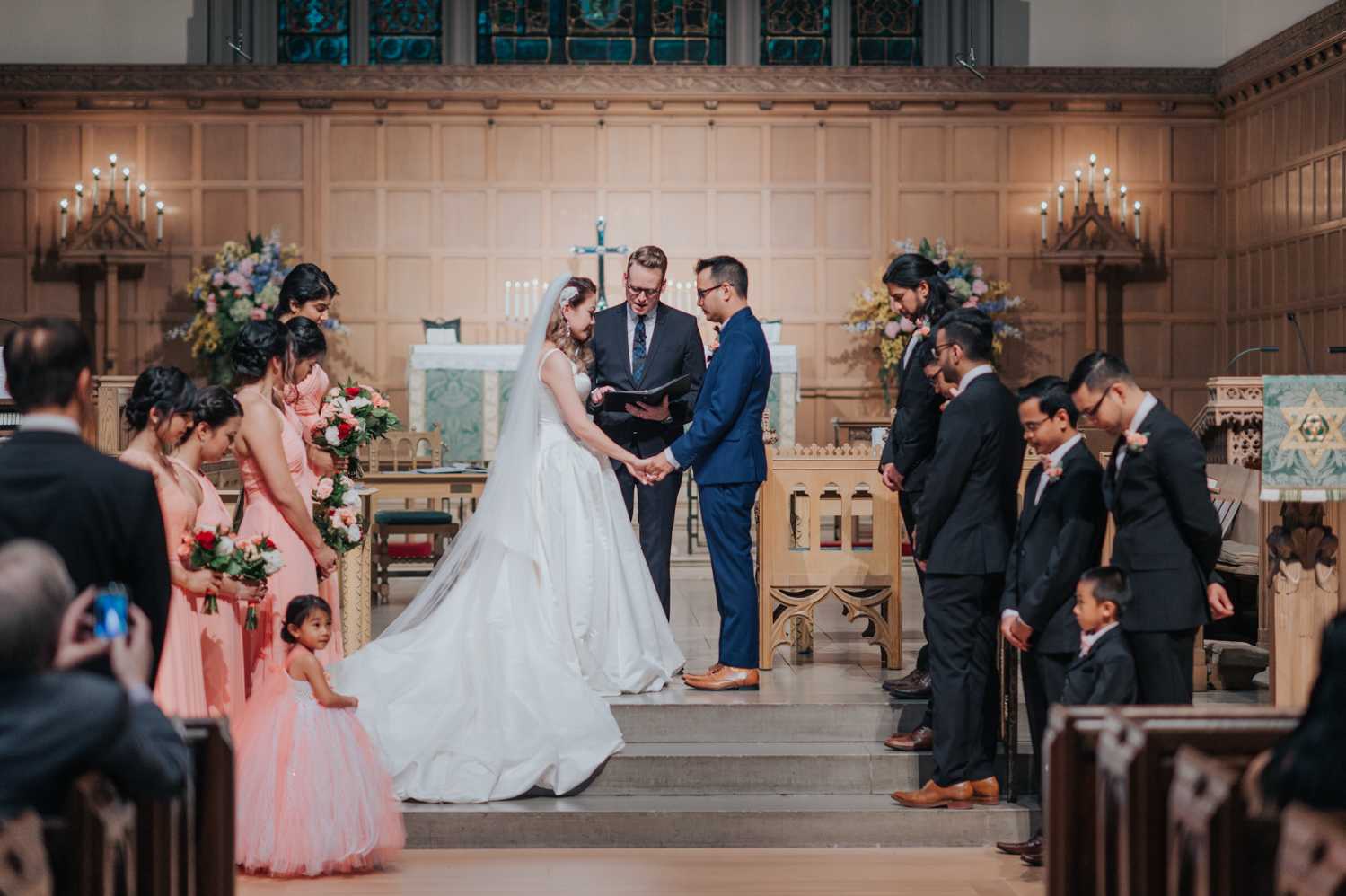 Wedding ceremony at the Timothy Eaton Memorial Church in Toronto