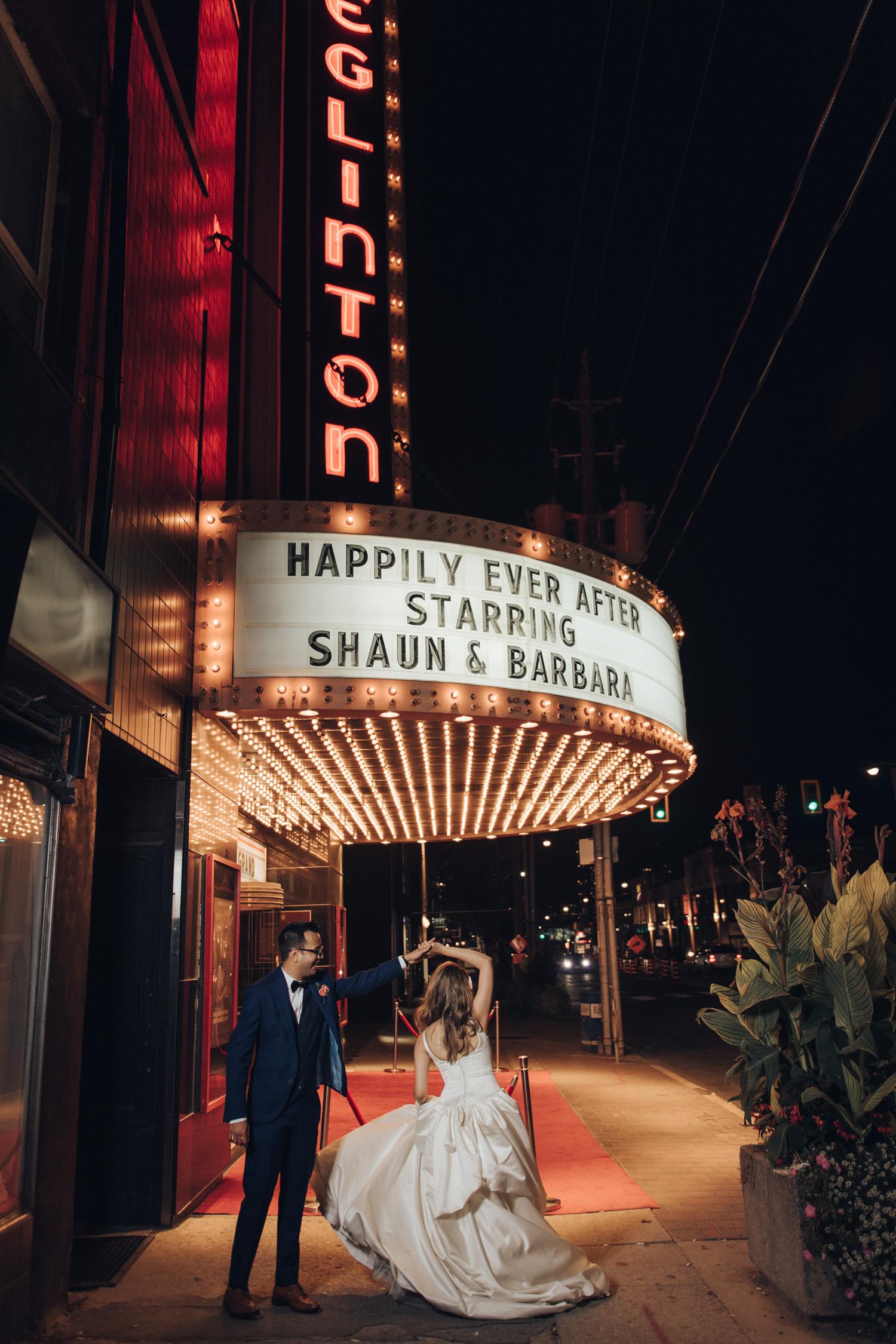 The Eglinton Grand Wedding Night Photo