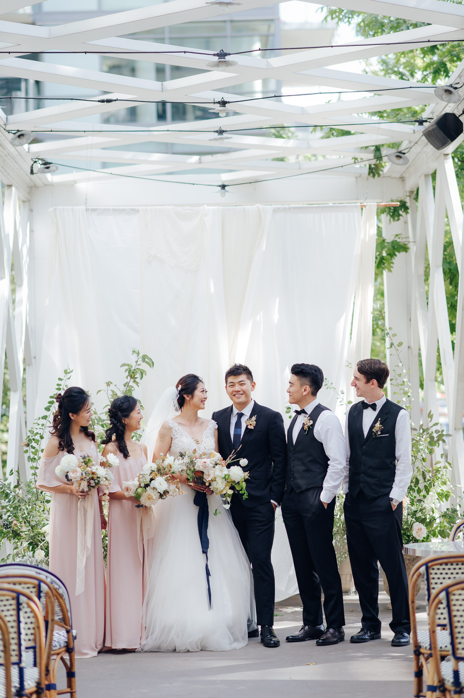 Toronto Colette grand cafe Wedding Bridal Party Outdoor Portrait