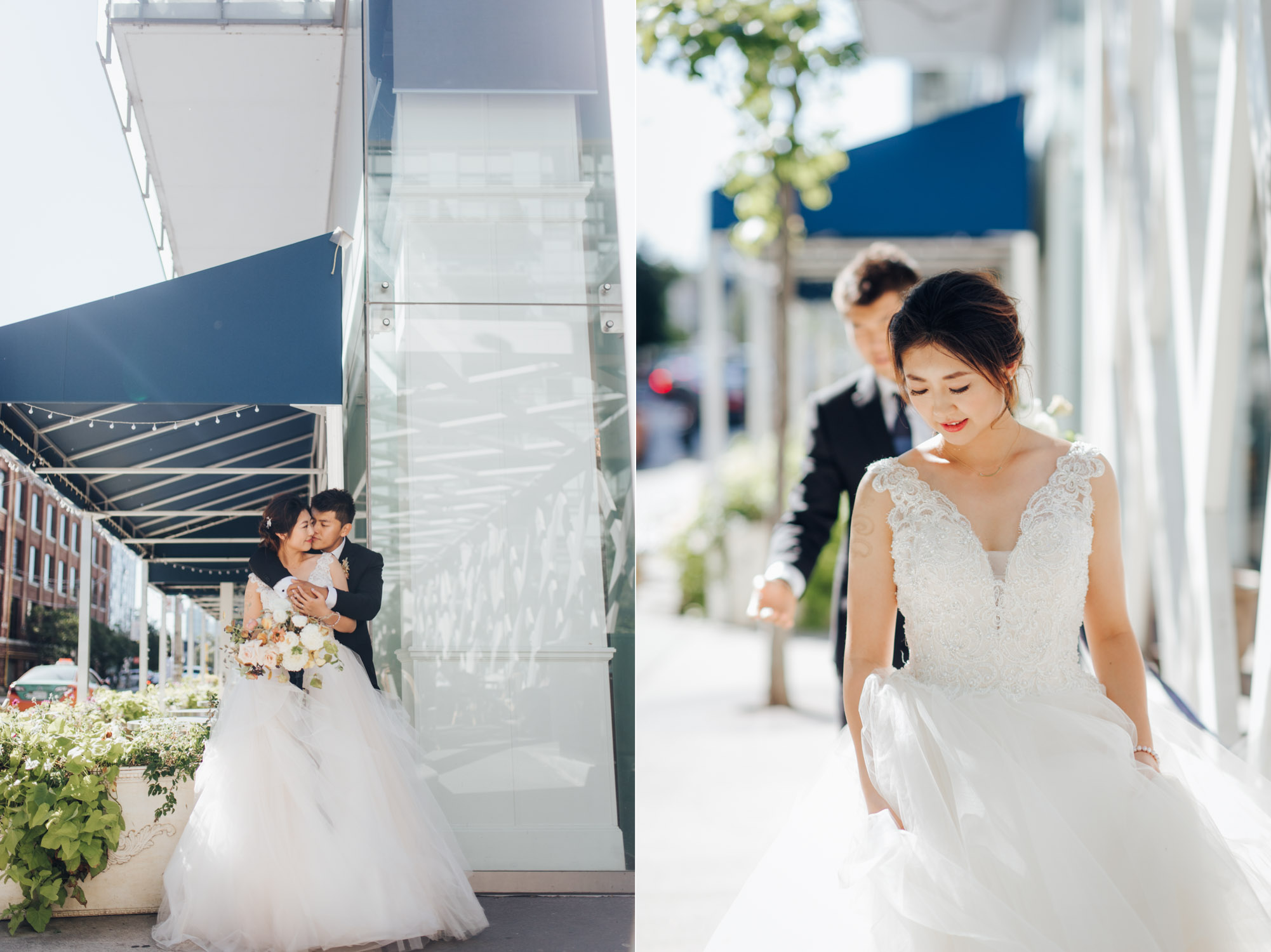 Toronto Colette grand cafe Wedding Bride and Groom Portrait