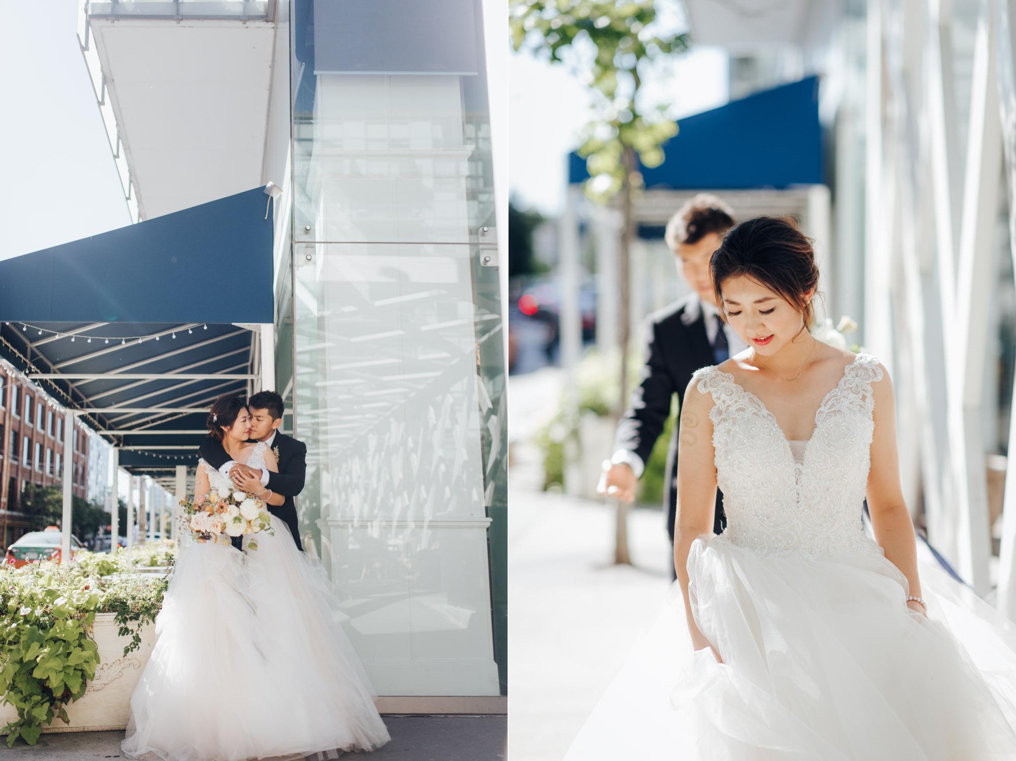 Toronto Colette grand cafe Wedding Bride and Groom Portrait