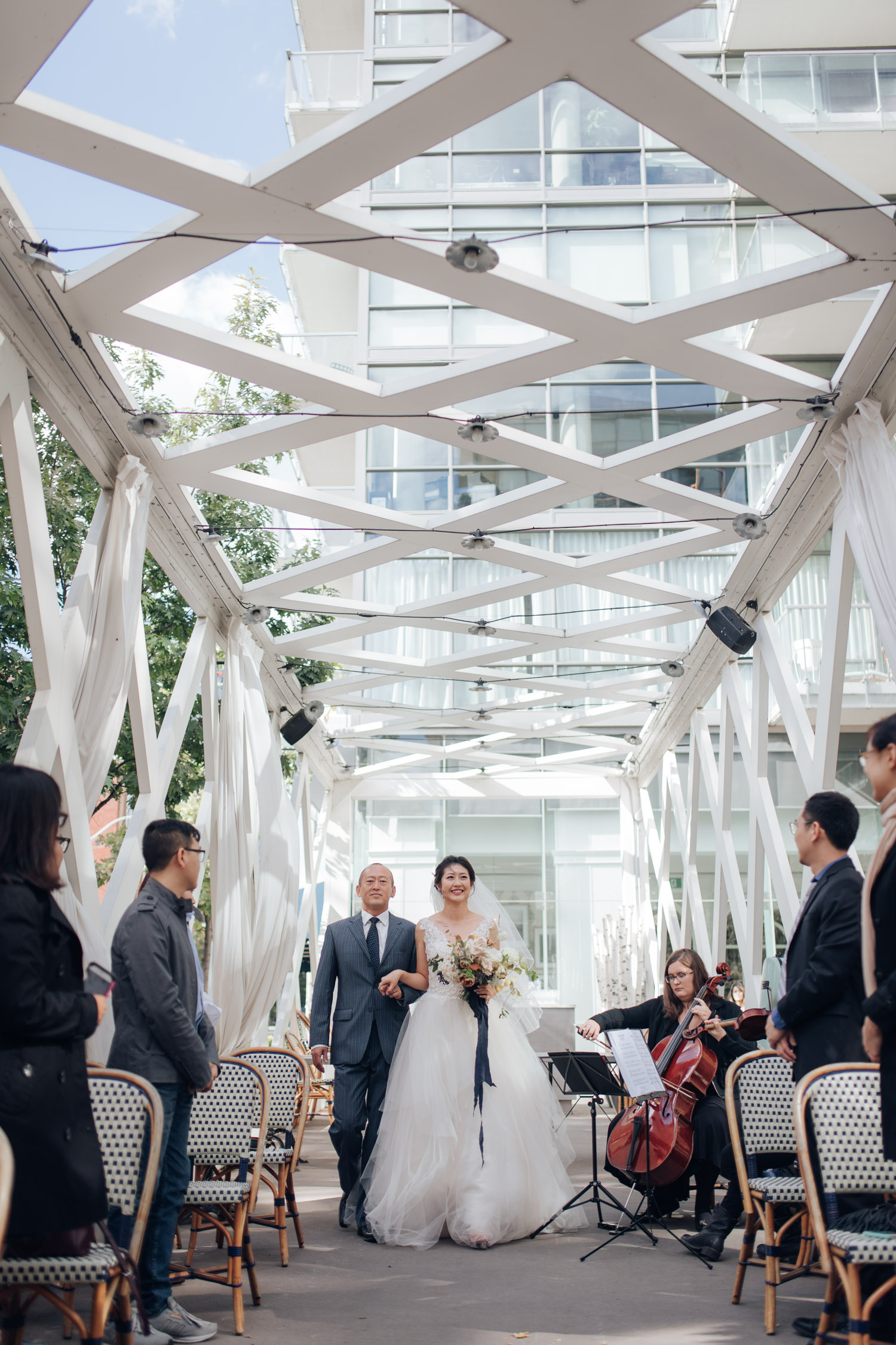 Toronto Colette grand cafe Wedding Ceremony Aile