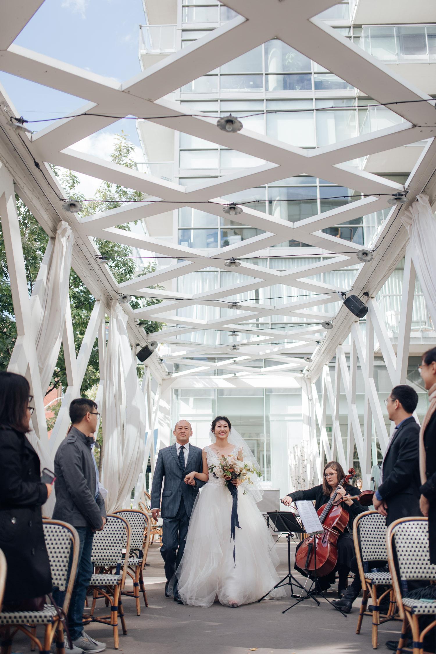 Toronto Colette grand cafe Wedding Ceremony Aile