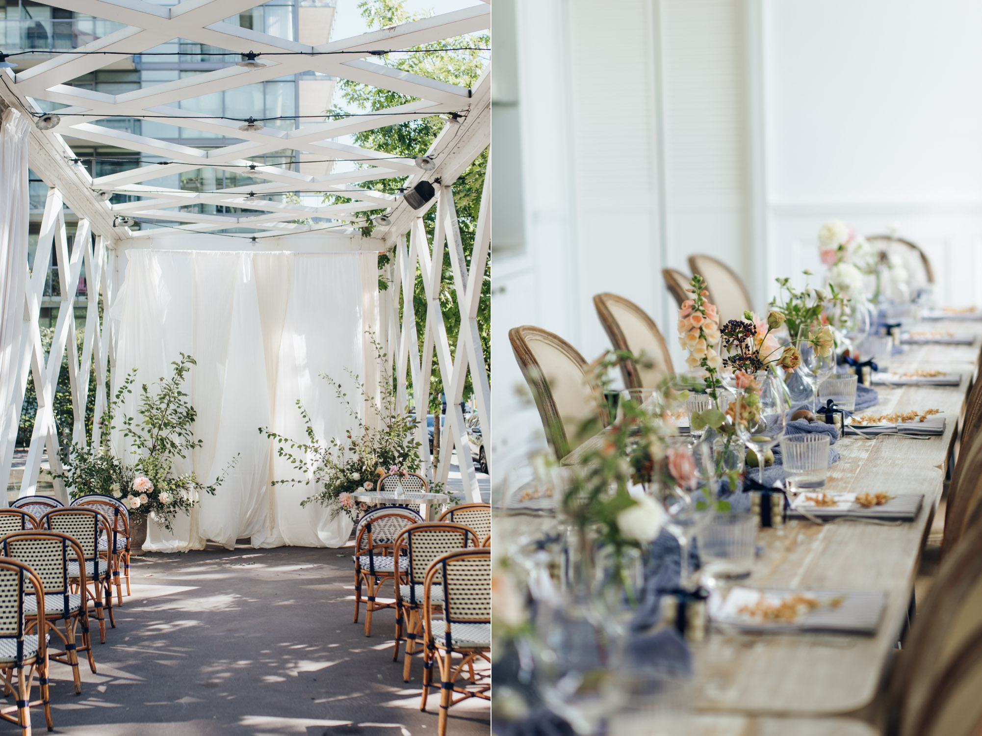 Thompson Hotel The Park Room Colette grand cafe Wedding Ceremony Details