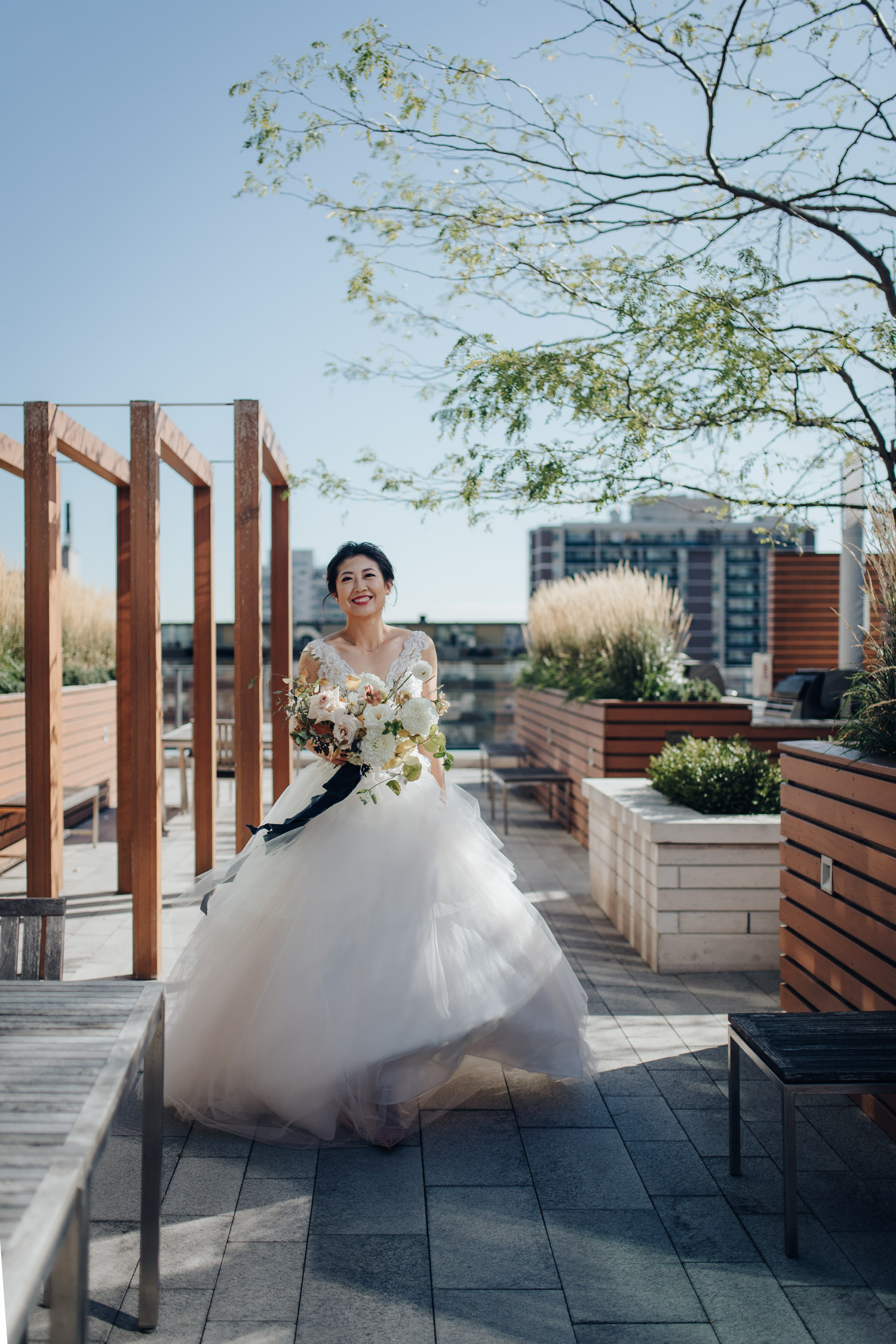Toronto Colette grand cafe Wedding First Look Bride Alone