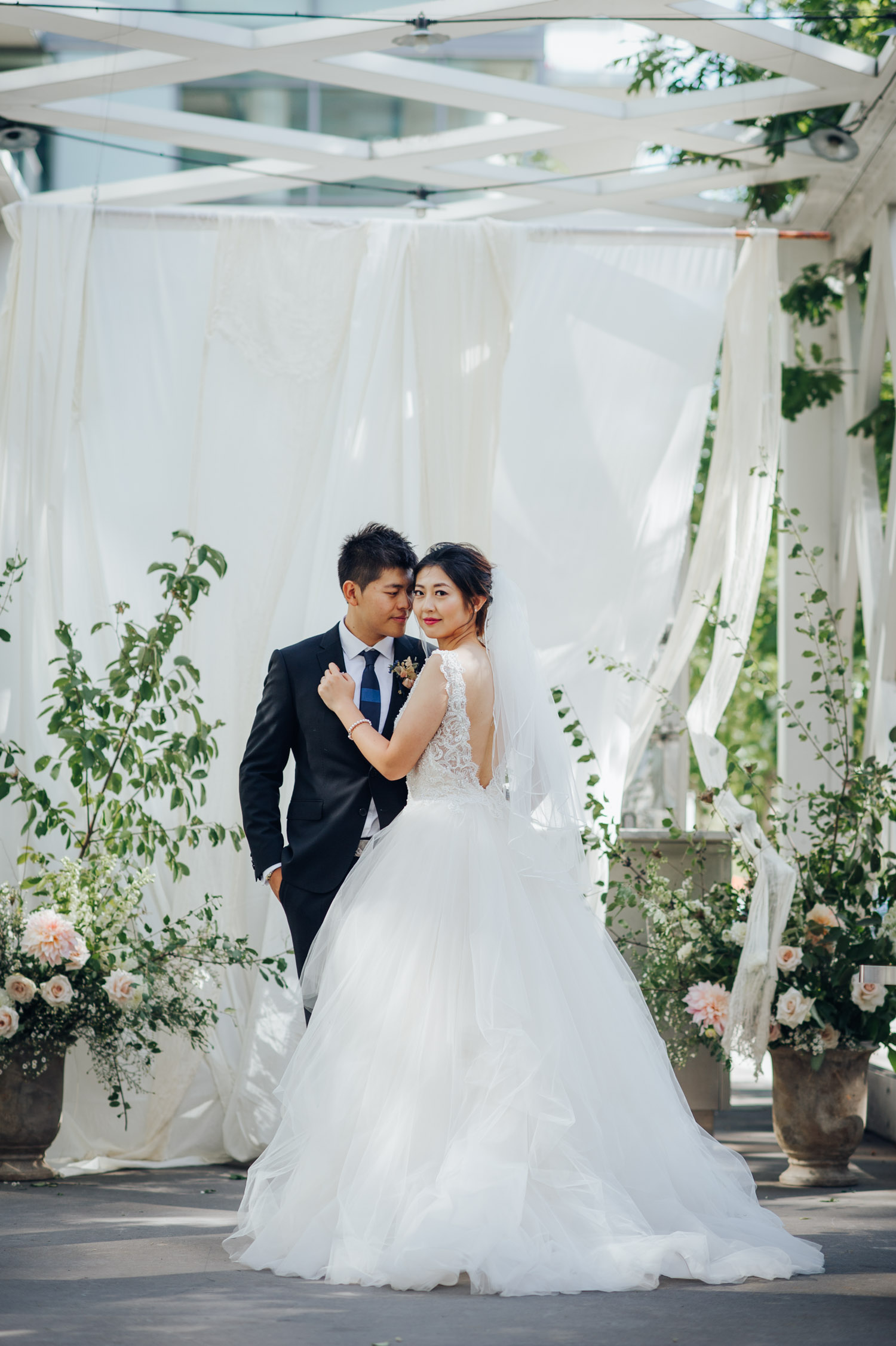 Toronto Colette grand cafe Wedding Outdoor Portrait