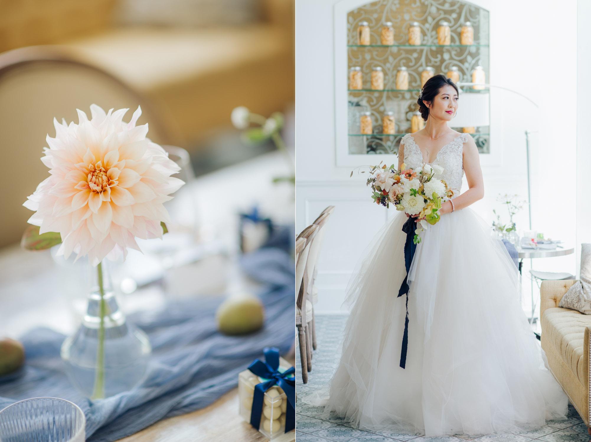 Toronto Colette grand cafe Wedding Reception Bridal Portrait