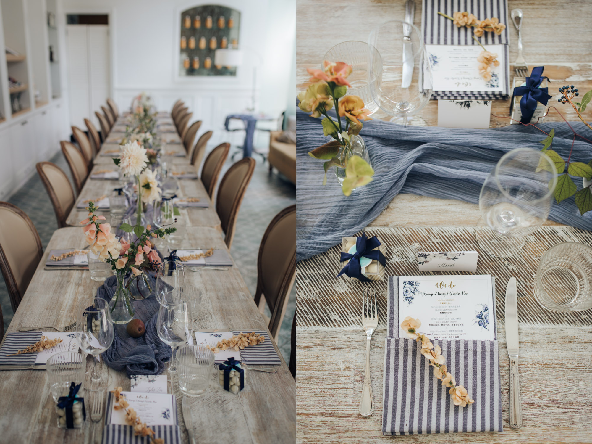 Colette grand cafe Wedding Reception details Table