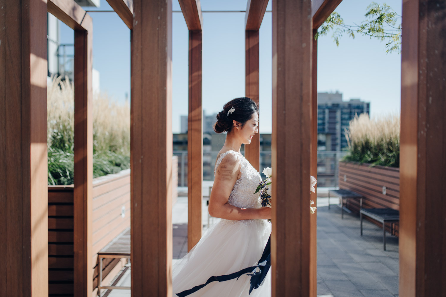 Toronto Colette grand cafe Wedding bride alone first look