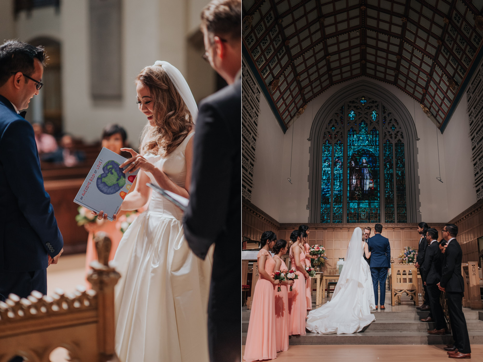 Wedding Cermeony at the Timothy Memorial Church in Toronto