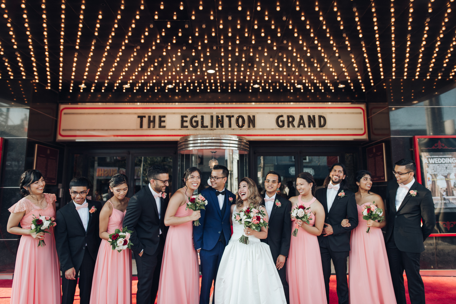 Toronto Eglinton Grand Theatre wedding party photo