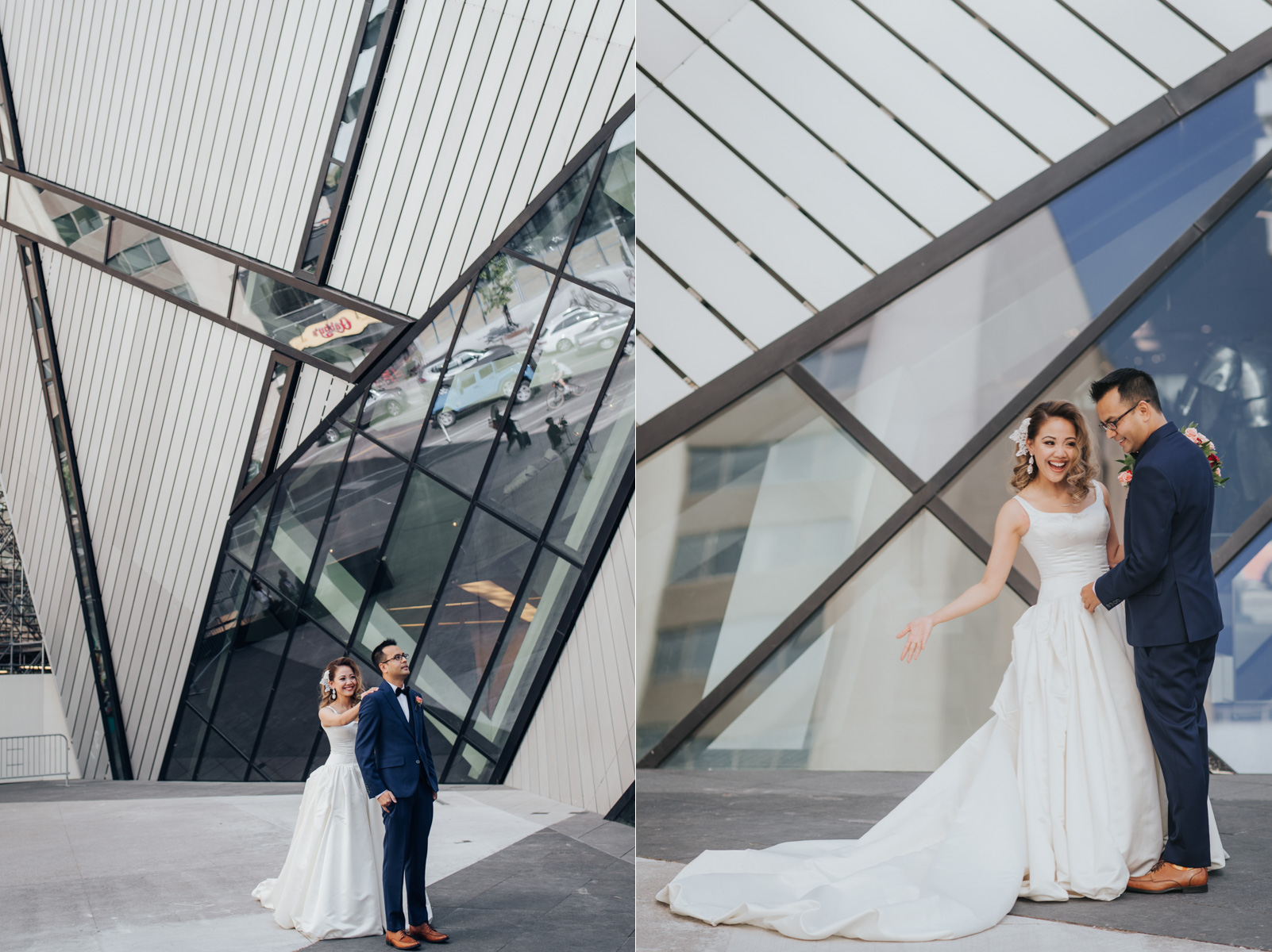 Bride and Groom's First Look at ROM