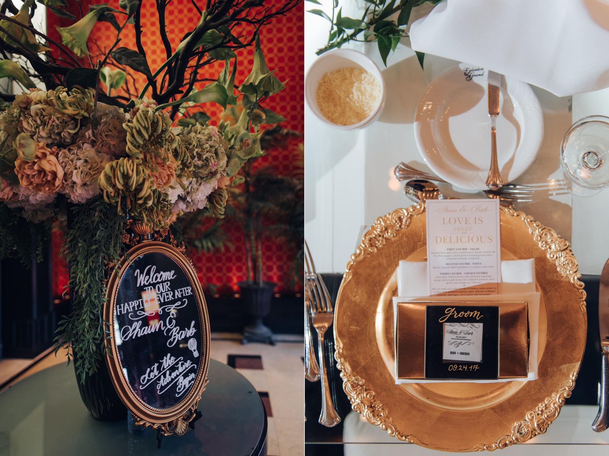 Wedding table decor at Eglinton Grand Toronto