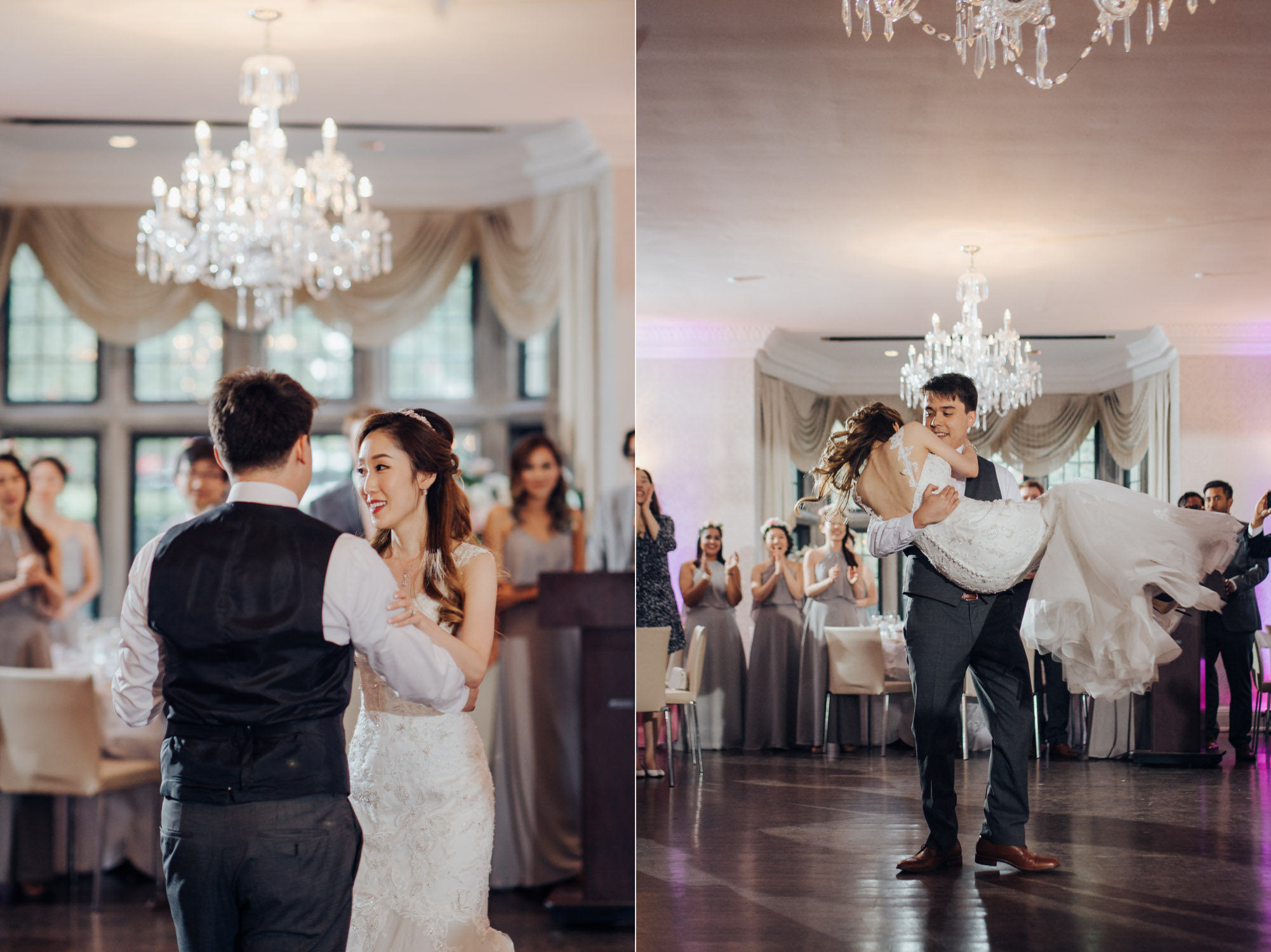 The First Dance of bride and groom at the Estates of Sunnybrook Wedding Vaughan Estate