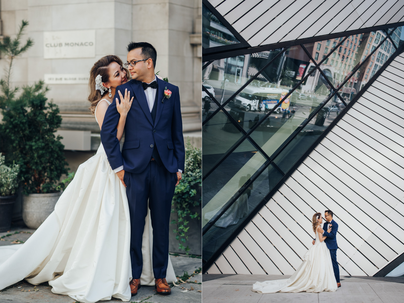 Bride and Groom's wedding photo at ROM