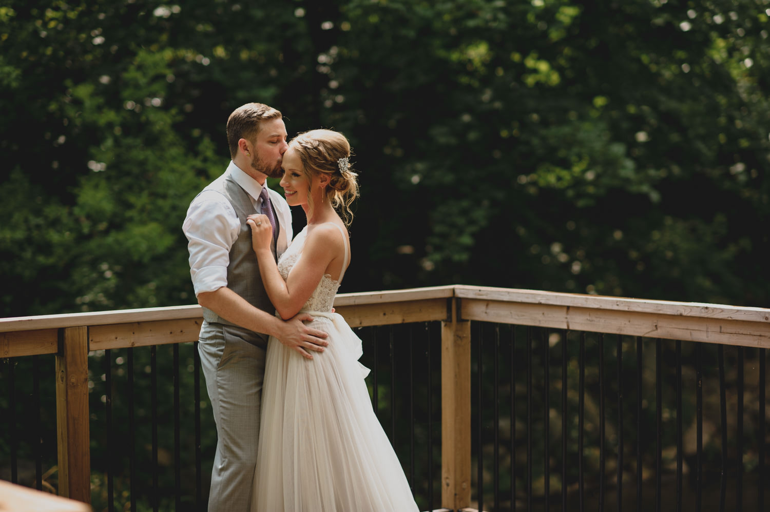 Elm Hurst Inn Wedding rainy Bridal and Groom Portrait