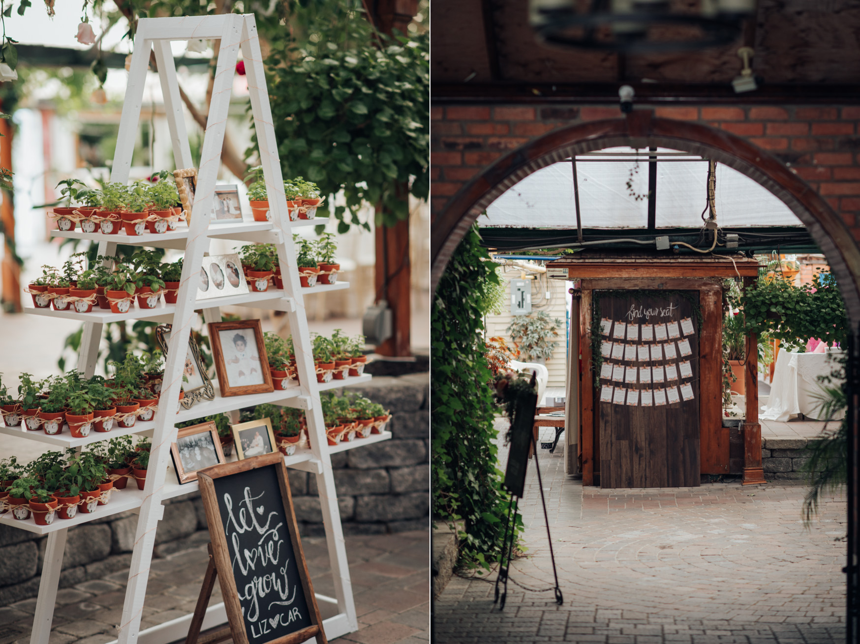 Decor and DIY details of a Madsen's Greenhouse Wedding in GTA Newmarket