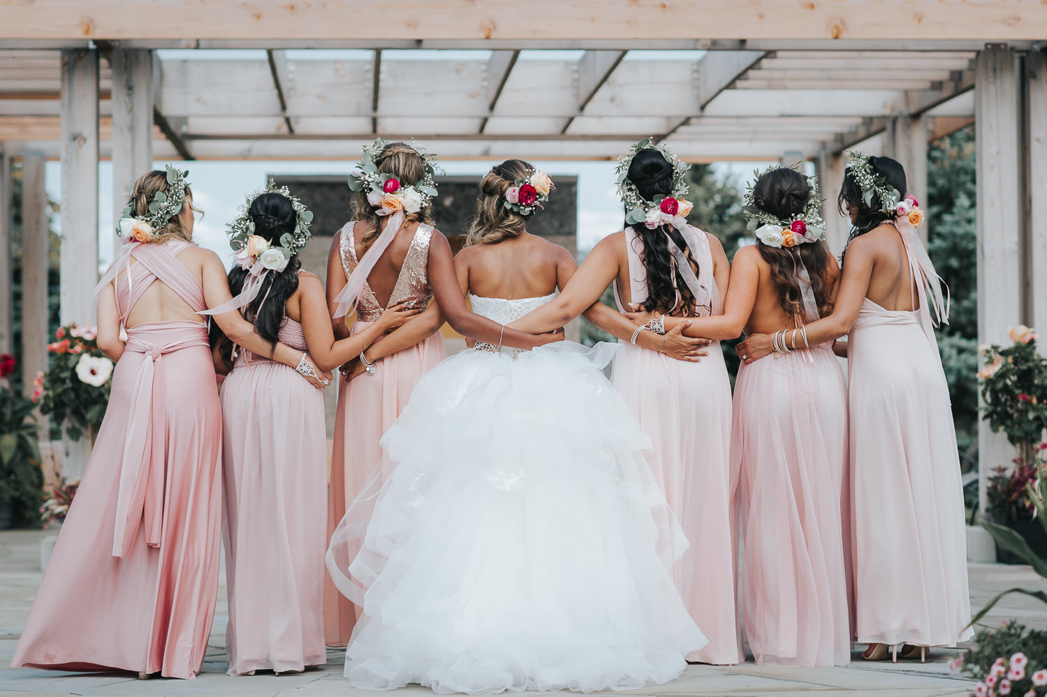 Bridesmaids at a Toronto Outdoor Wedding Photo
