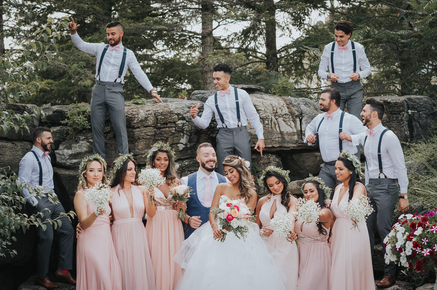 Bridal Party dancing at a Toronto Outdoor Wedding