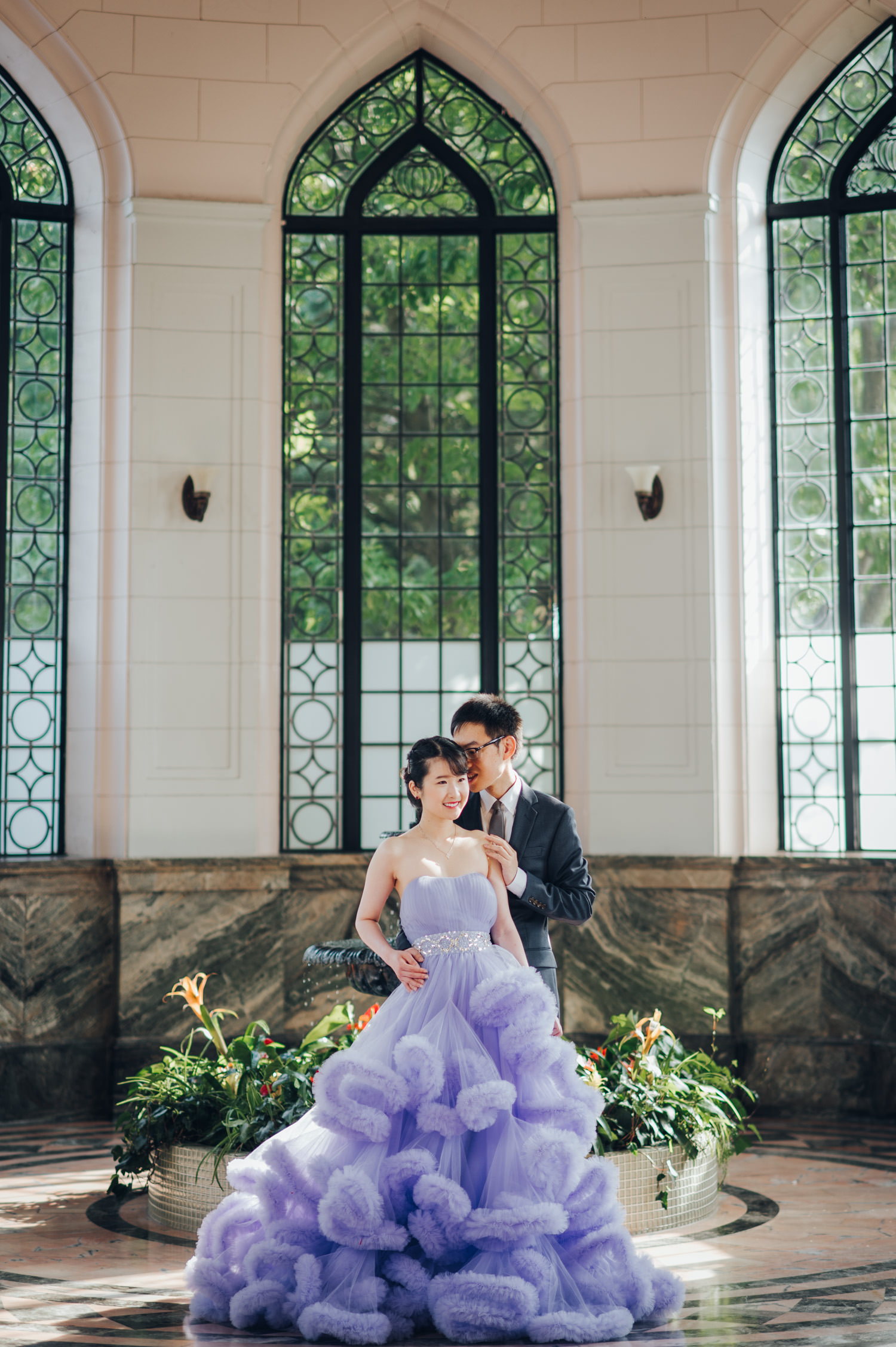 casa loma engagement photos at the Conservatory